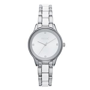 1fd6d43ba Relic by Fossil Women's Charlotte Stainless Steel & Ceramic Watch