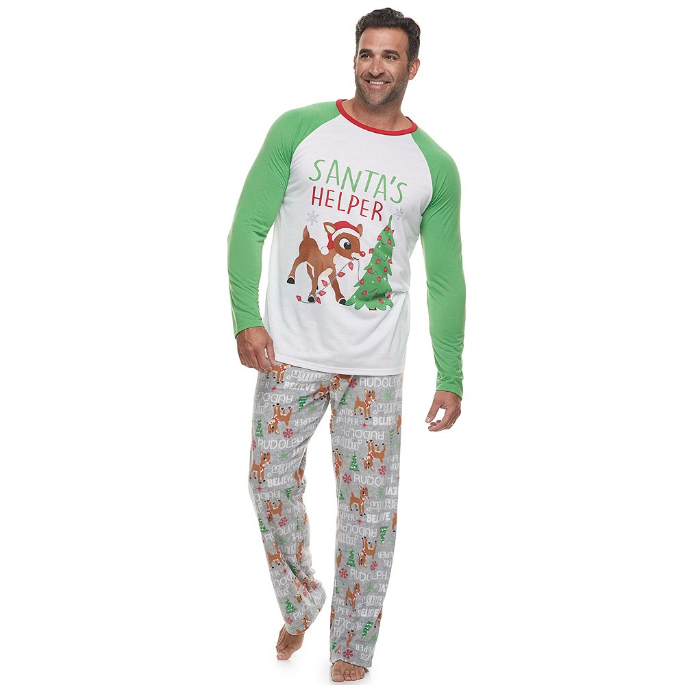 Big & Tall Jammies For Your Families® Rudolph Top & Bottoms Pajama Set