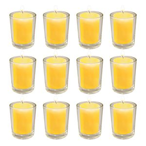 LumaBase 12-ct. 15-hr. Citronella Votive Candles with Frosted Glass Holders