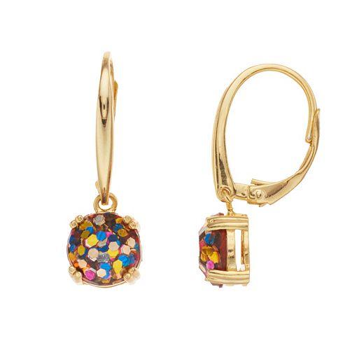 Aleure Glitter Drop Earrings