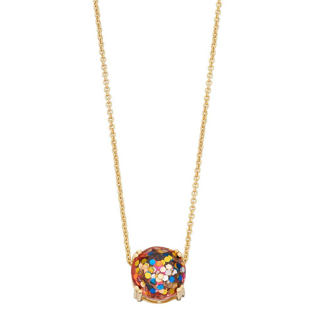 Aleure Sterling Silver Glitter Pendant Necklace