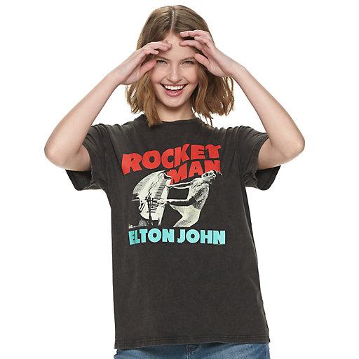 de072d33 Juniors' Elton John Rocketman Boyfriend Tee