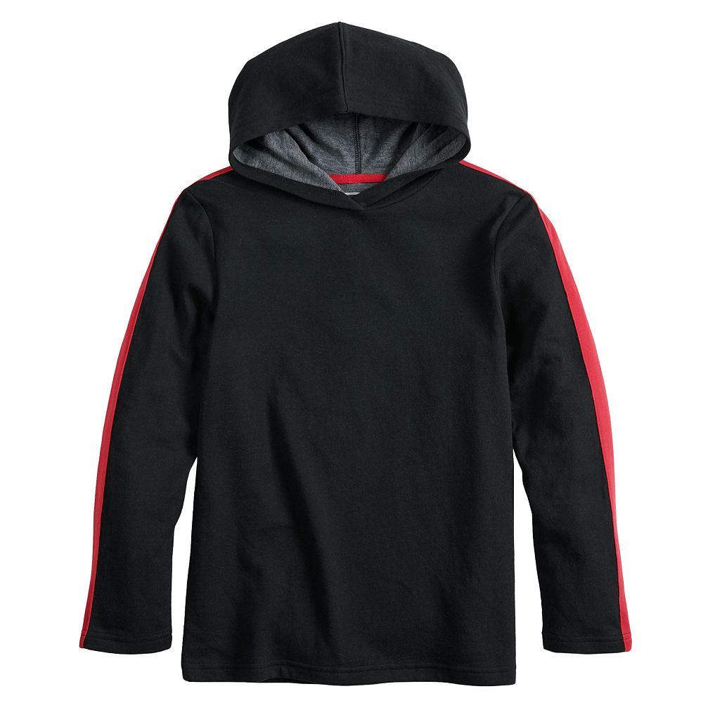Boys 8-20 & Husky Urban Pipeline™ Side-Striped Hooded Tee