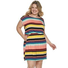 Plus Size Apt. 9® Cinch Waist T-Shirt Dress