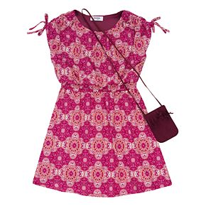 Girls 7-16 Speechless Printed Dress & Purse Set