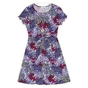 Girls 7-16 Speechless Printed Knot Front Dress
