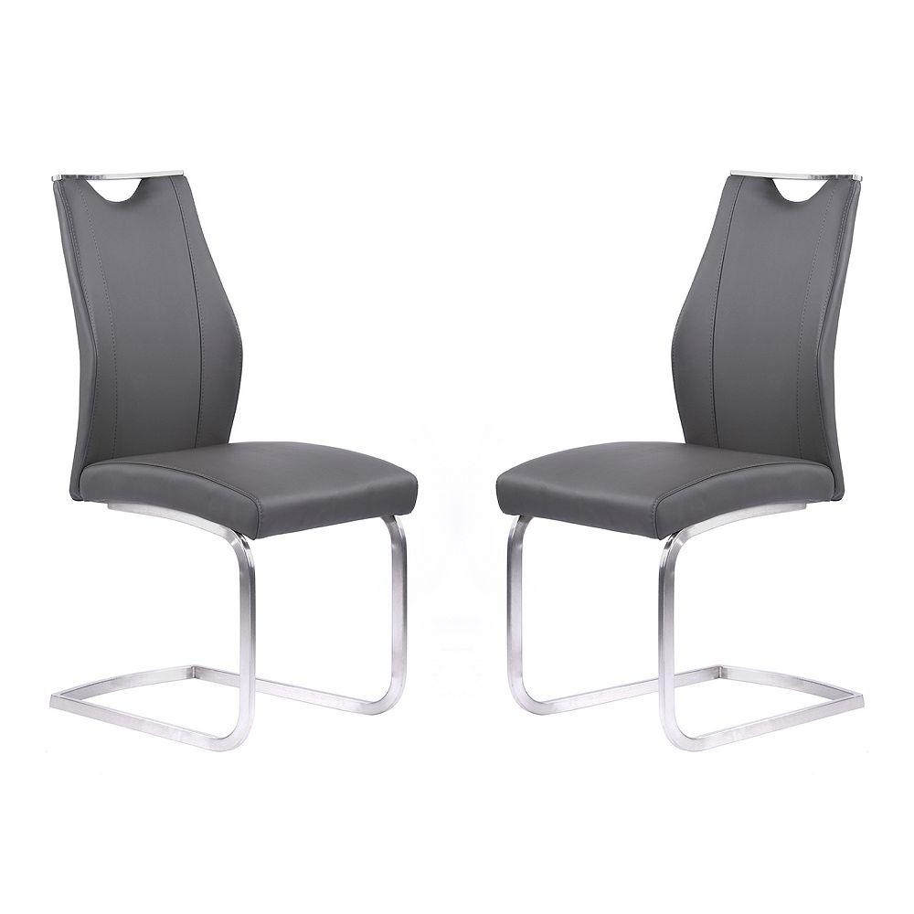 Armen Living Bravo Contemporary Dining Chair Set