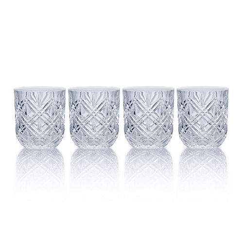 Mikasa Clarement 4-pc. Double Old-Fashioned Glass Set