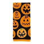Celebrate Halloween Together Pumpkin Face Hand Towel