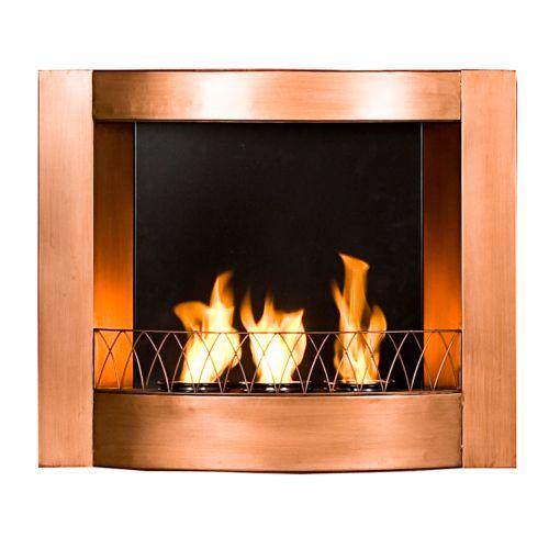 Copper Wall-Mount Gel Fireplace