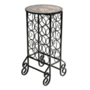 Scrolled Iron Wine Rack