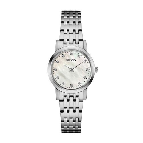 Bulova Women's Diamond Accent Stainless Steel Watch - 96P175