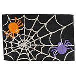 Celebrate Halloween Together Spider Web Bath Rug
