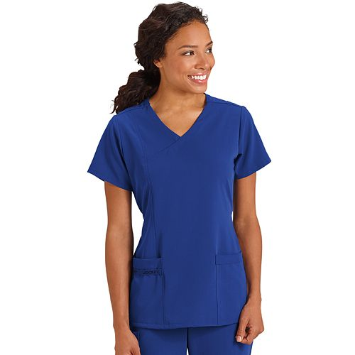 Women's Jockey Scrubs Mock-Wrap V-Neck Top 2475