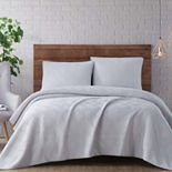 Brooklyn Loom Washed Rayon Basket Weave Quilt Set