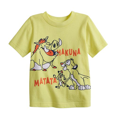 "Disney's The Lion King Baby Boy ""Hakuna Matata"" Graphic Tee by Jumping Beans®"