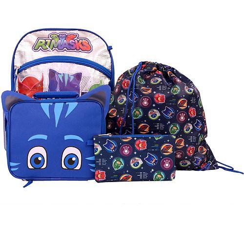 Kids PJ Masks 5-piece Backpack Set