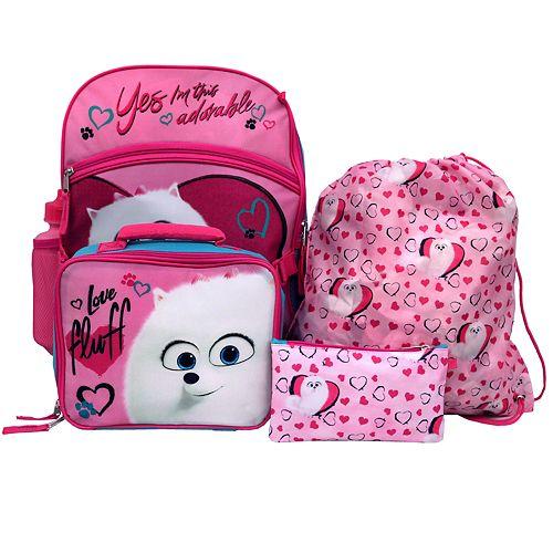 Kids Secret Life of Pets 5-piece Backpack Set