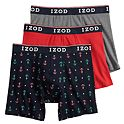 3-Pack IZOD Men's Stretch Boxer Briefs