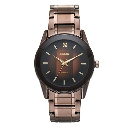 Relic by Fossil Men's Rylan Stainless Steel Diamond Accent Watch - ZR77312
