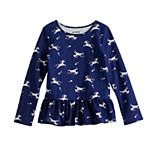 Girls 4-12 Jumping Beans® Peplum-Hem Top