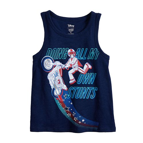 """Disney / Pixar Toy Story 4 Baby Boy """"Doing All My Own Stunts"""" Tank Top by Jumping Beans®"""
