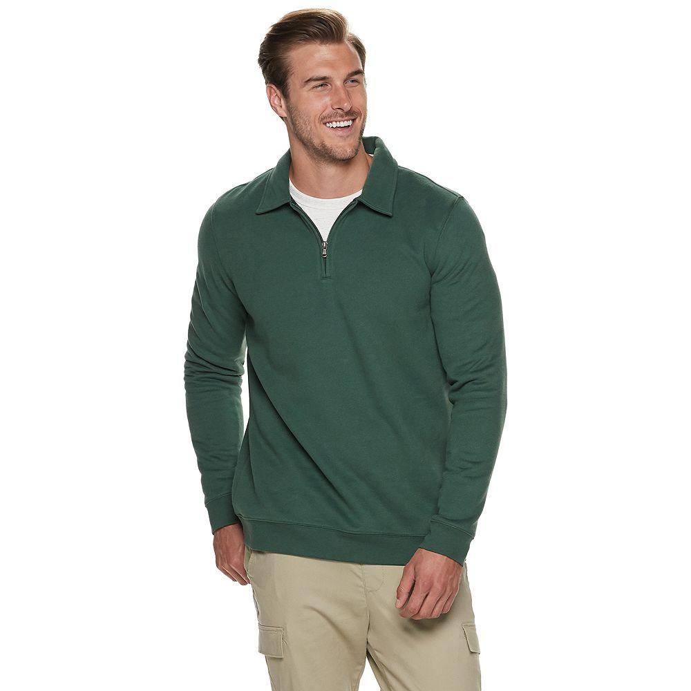 Big & Tall Croft & Barrow® Quarter-Zip Pullover
