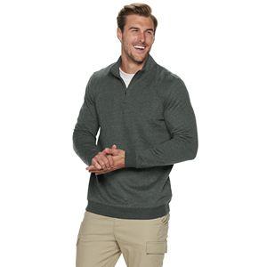 Big & Tall Croft & Barrow Long Sleeve Fleece Quarter-Zip Pullover