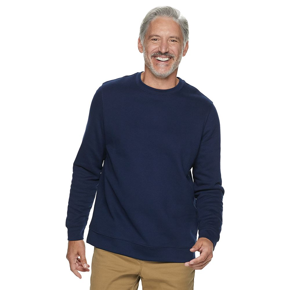Big & Tall Croft & Barrow® Fleece Crewneck Pullover