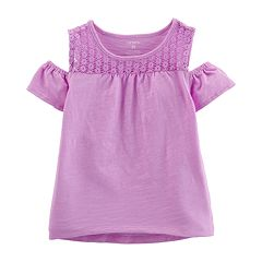 Baby Girl Carter's Cold-Shoulder Crocheted Top