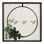"New View Gifts ""This Is Us"" Wire Wreath Wall Art"
