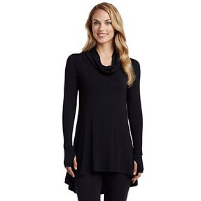 Women's Cuddl Duds Softwear with Stretch Long Sleeve Cowl Tunic