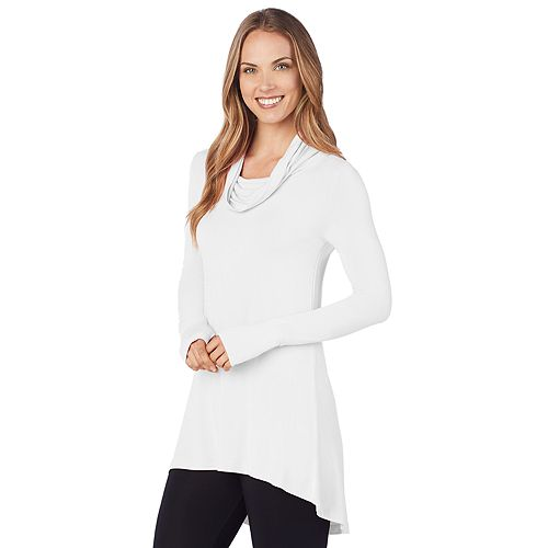 Women's Cuddl Duds® Softwear with Stretch Long Sleeve Cowl Tunic