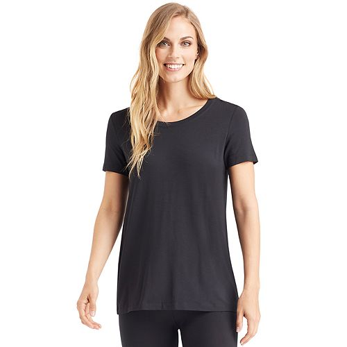 Women's Cuddl Duds® Softwear with Stretch Short Sleeve Scoopneck Top