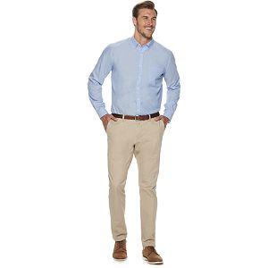 Big & Tall Croft & Barrow Easy Care Solid Long Sleeve Shirt