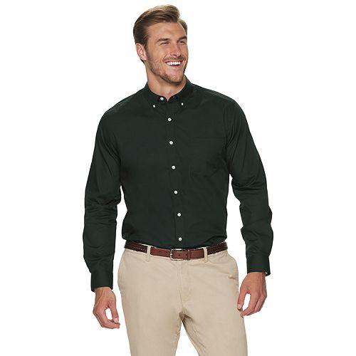Big & Tall Croft & Barrow® Easy Care Solid Long Sleeve Shirt