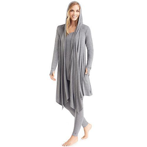 520df4adbbf Women s Cuddl Duds Softwear Hooded Wrap Cardigan