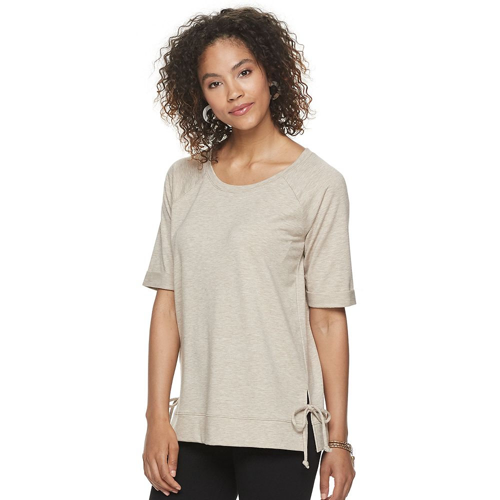 Women's SONOMA Goods for Life® Super Soft Side Tie Elbow Sleeve Top
