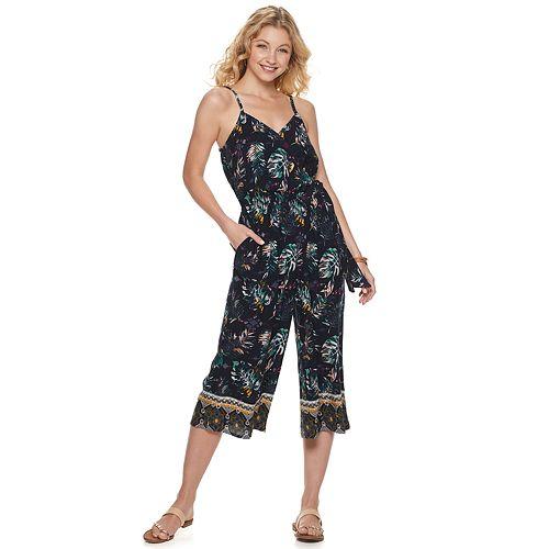 Juniors' Mudd® Surplice Culotte Jumpsuit