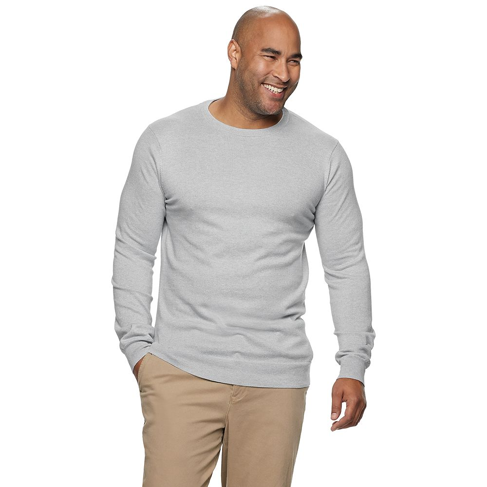 Big & Tall SONOMA Goods for Life® Knitted Crewneck Pullover Sweater