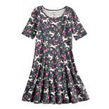 Girls 4-12 Jumping Beans® Printed Princess Seam Dress
