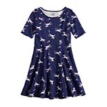 Girls 4-12 Jumping Beans® Printed Princess Seam Dress