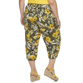 Plus Size EVRI Wide-Leg Crop Pants