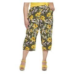 Plus Size EVRI Wide-Leg Crop Pants