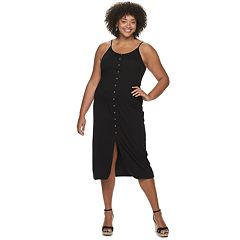 Juniors' Plus Size Mudd® Button Down Midi Dress