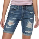 Juniors' SO® High Rise Vintage Bermuda Shorts