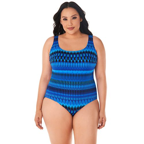 Plus Size Great Length Triple-X Back D-Cup One-Piece Swimsuit