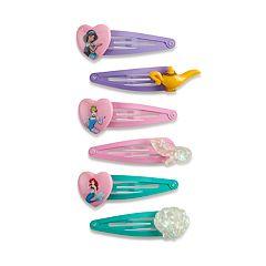 Disney Princess Girls 4-10 6-pack Snap Hair Clips