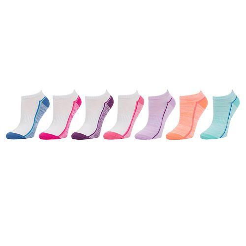 Girls 4-16 SO® 7-pack Marled No-Show Socks