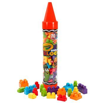 Crayola Kids at Work Giant Crayon Tube Building Block Set